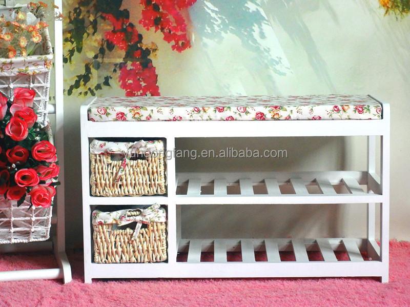 Estilo Vintage De Madera Taburete Otomano,Muebles Para Tienda De ...