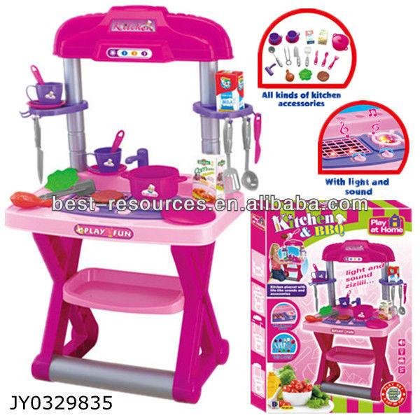 gran conjunto de barbacoa set de cocina de imaginacin juguetes cubiertos para nios
