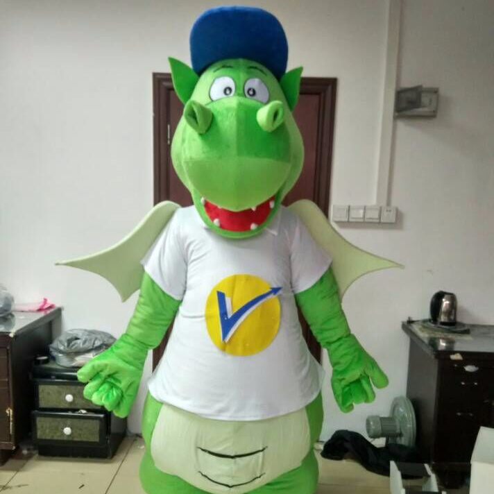 2013 high feedback green dragon mascot costume