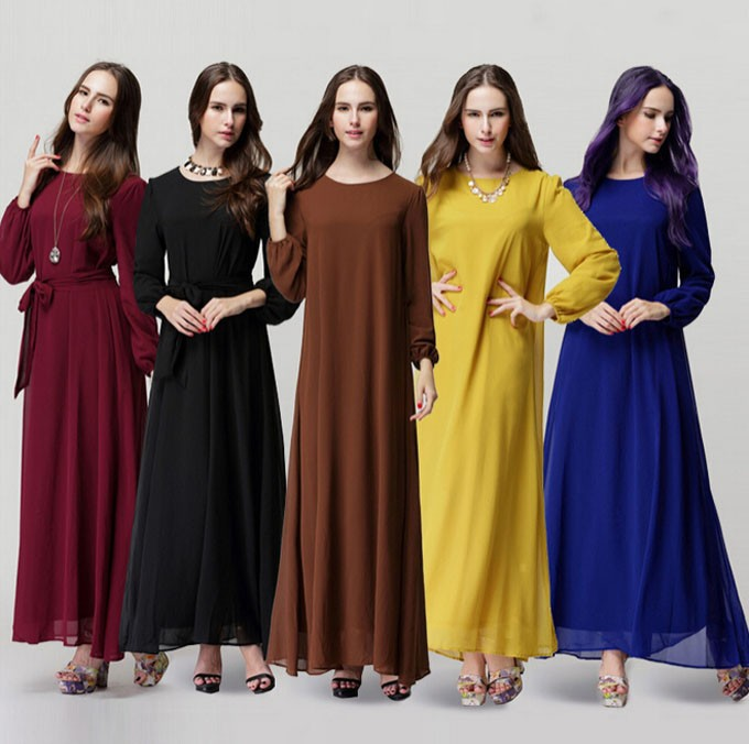 a40a8971a016 New Arrival Elegant Casual Muslim Abaya Islamic Clothing For Women ...