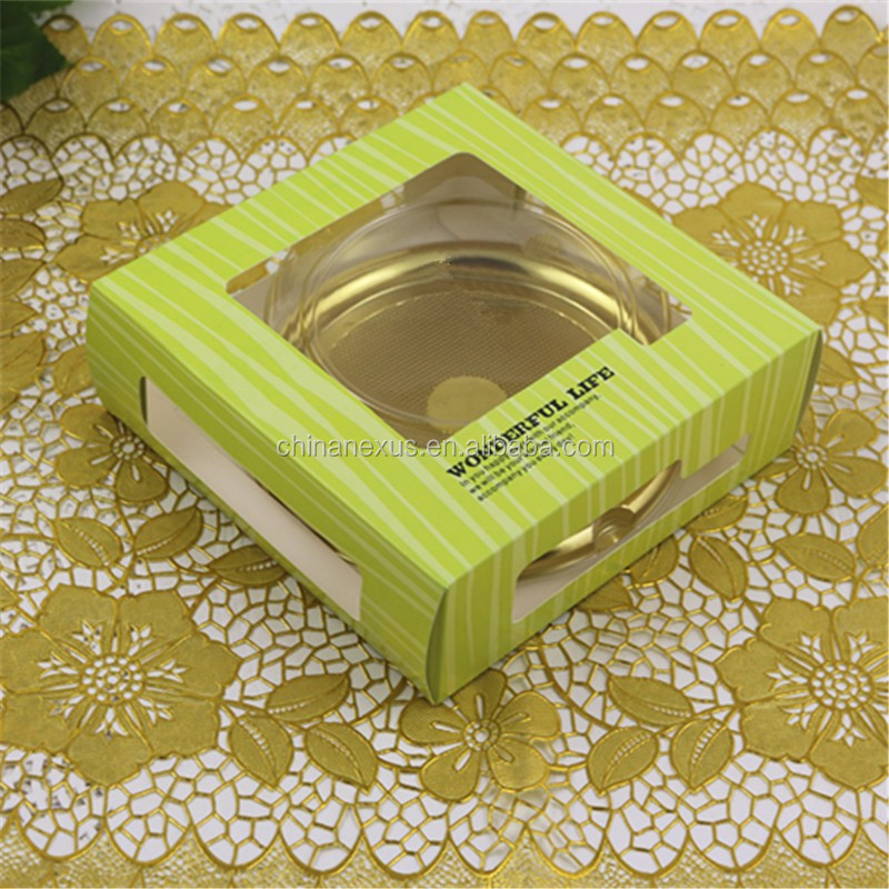 Beautiful dessert/cake packaging box with plastic box inside