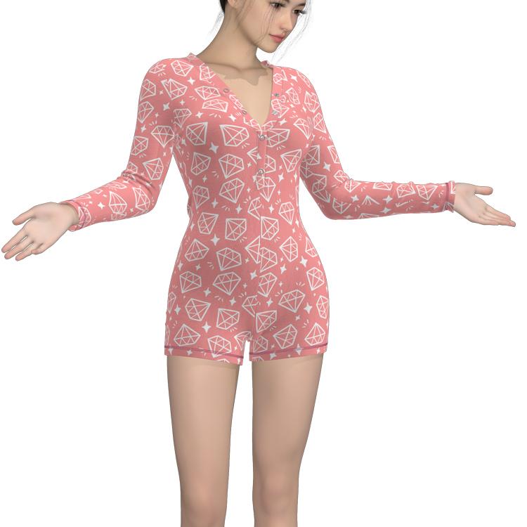 Custom Short Romper Adult Onesie Bulk Button Up Pajamas ...