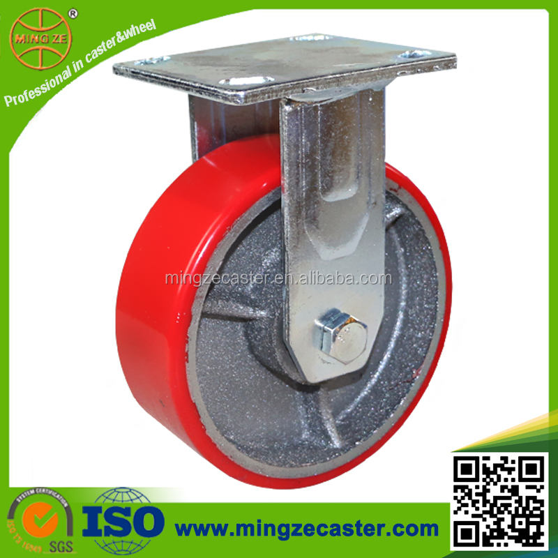 Industrial polyurethane wheel antique metal cast iron casters