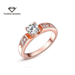 New Classic Rhinestone Jewelry Wedding rings for women Rose Gold plated Crystals rings female top quality ring