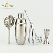 Morezhome customized stainless steel cocktail shaker cocktail set