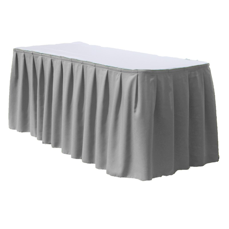 100% Polyester Fancy Banquet Hotel Table Skirt