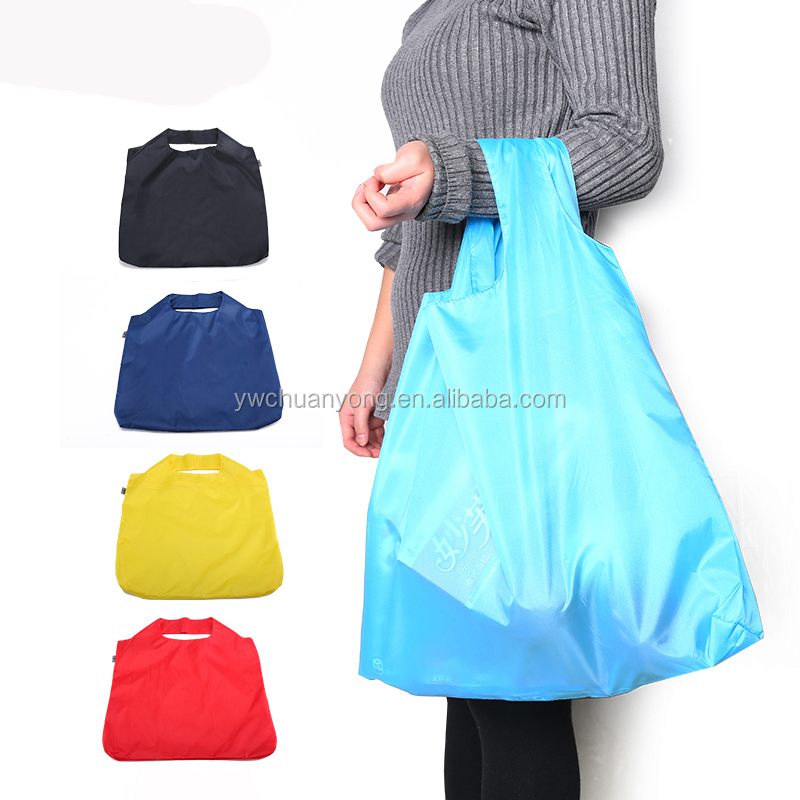 High Quality Cheap Large <strong>Eco</strong> Friendly Waterproof Reusable Nylon Foldable Shopping Bag Wholesale