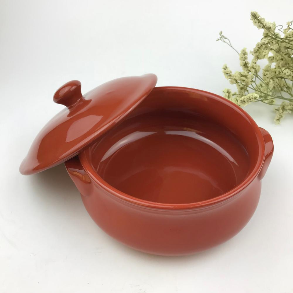 Rot Glasierte Terrakotta kochen topf Keramik kochen topf für küche