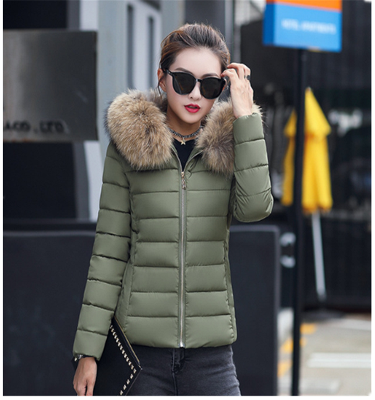 Hot Sale Slim Outdoor Hooded Lady Padded Jacket Fur Winter Wears Down Jacket For Women