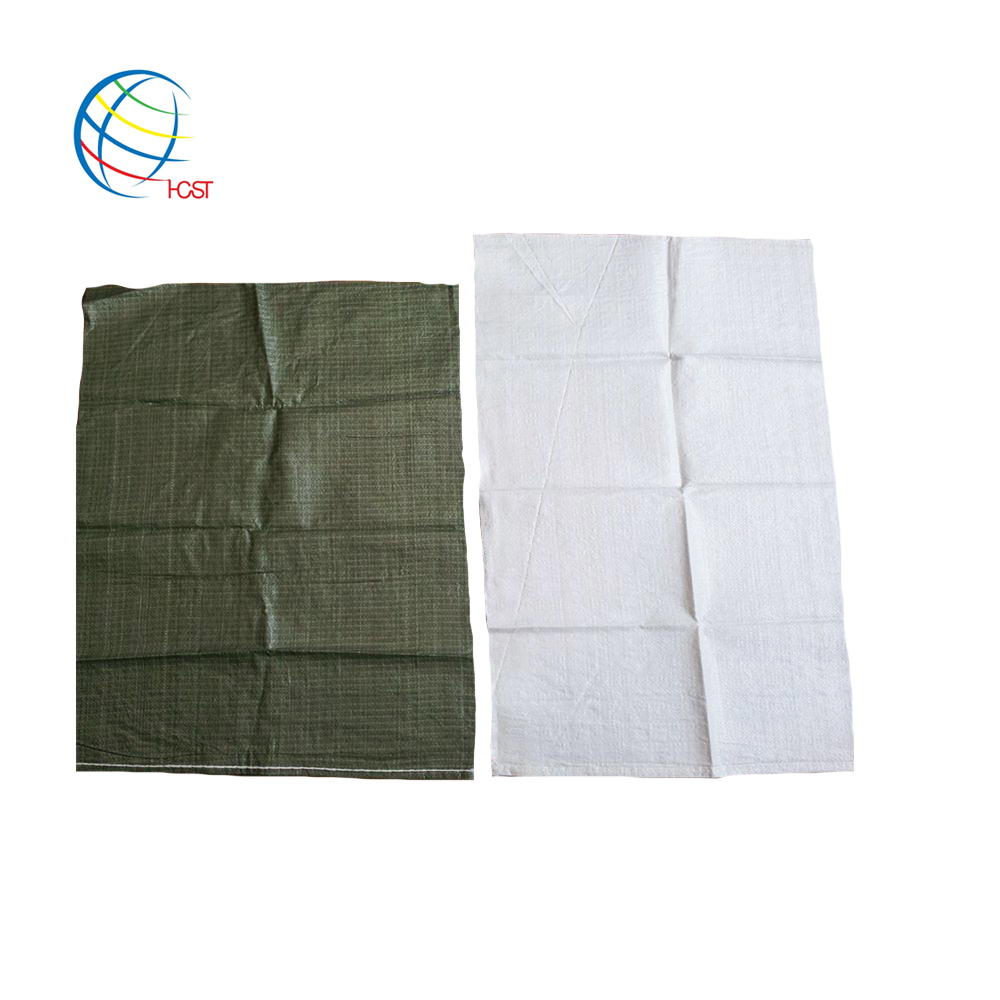 high quality export russia 25kg 50kg dark green woven pp sandbags building garbage bag for trash cement sand stone mining