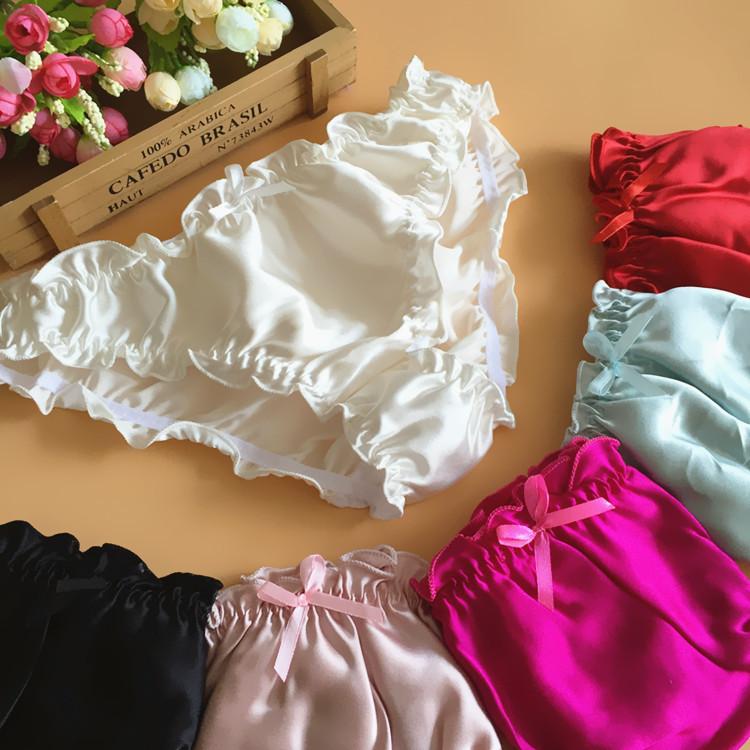 100% free plus size panties sbyan multi colors water ink flower silk women  panties 9059cb282