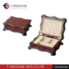Wholesale good quality piano lacquer finishing vintage style red luxury jewelry packing box