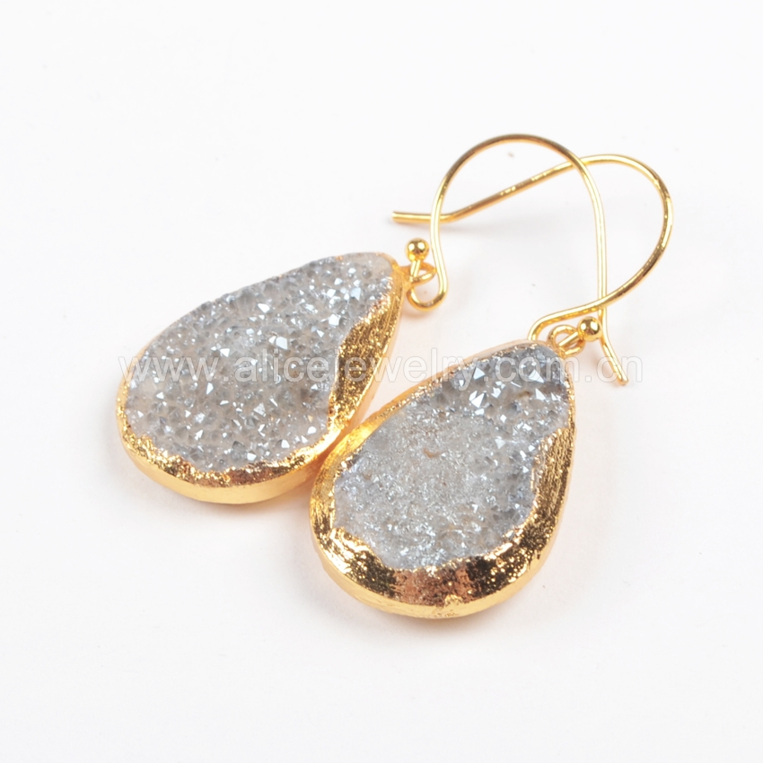 ddf25e046b528 G0820 24 Karat Rose Gold Druzy Ear Stud Earring - Buy Ear Stud Earring,24  Karat Gold Earring,Rose Gold Earring Product on Alibaba.com