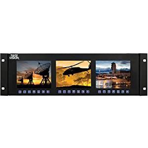 "Tote Vision LED-566HDMX3 5.6"" LED-Backlit Field Monitors in Rack Mount Unit"