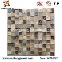 2016 new mosaic tile pearl shell mosaic clear glass mix roman century stone tile slate mosaic for interior room kitchen wall