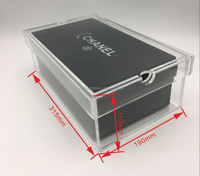 Promotional large acrylic sneaker clear box / shoe display box for nike adidas