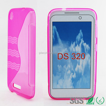 hotpink wave stylelish TPU mobile phone cover case for HTC desire 320