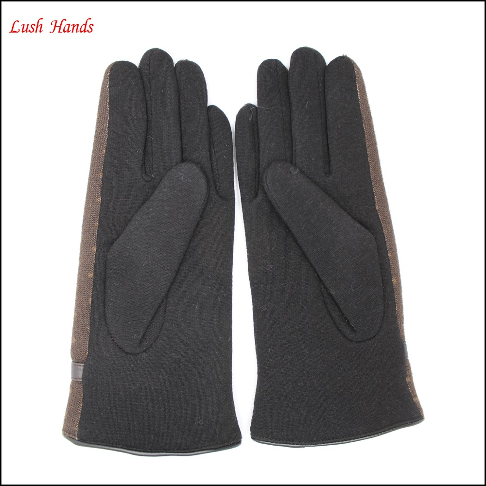 cheap women's Brown Swallow Gird and black velvet gloves with black bow