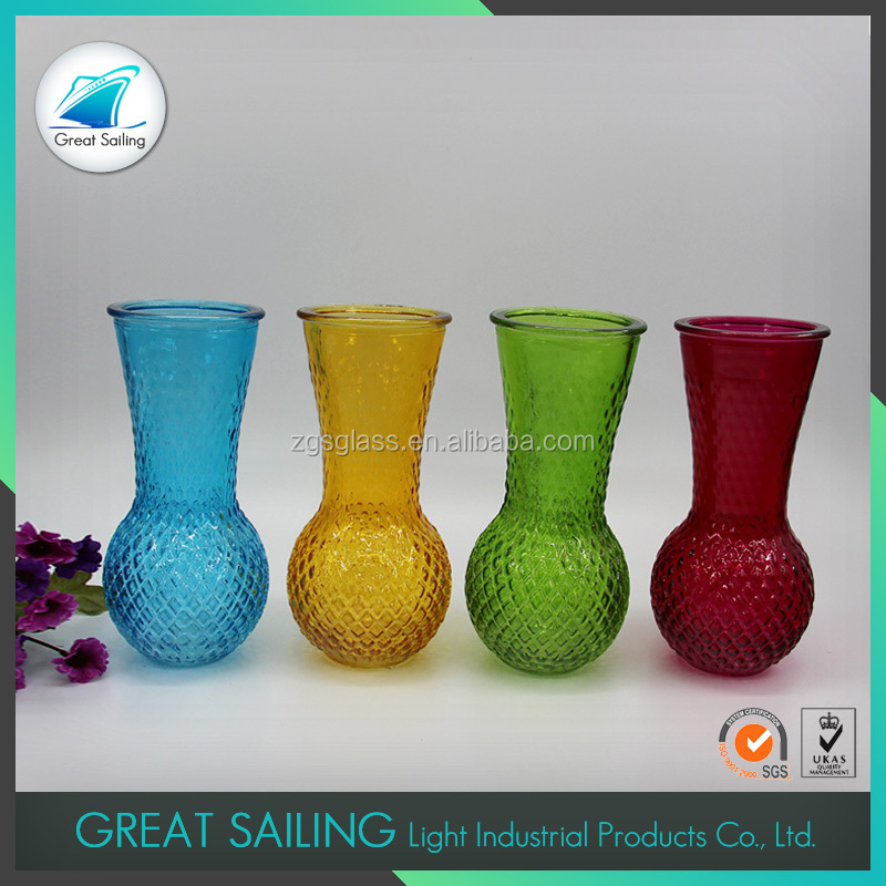 Eco-friendly Color Mosaic Different Types Glass Vase