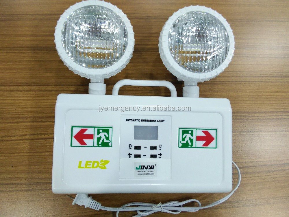 2 Year Limited Warranty 4hours LED Double Spots Combo Exit Emergency Sign Light
