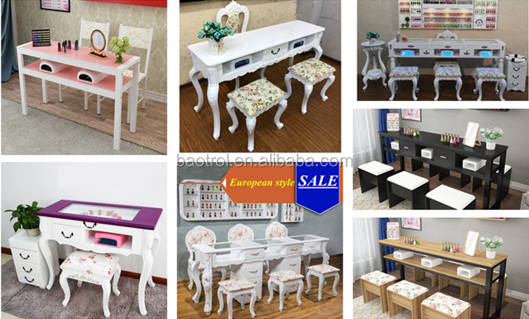 Luxe Nail Spa Meubels Enkele Nail Tafel Voor Manicure Vintage Syle ...