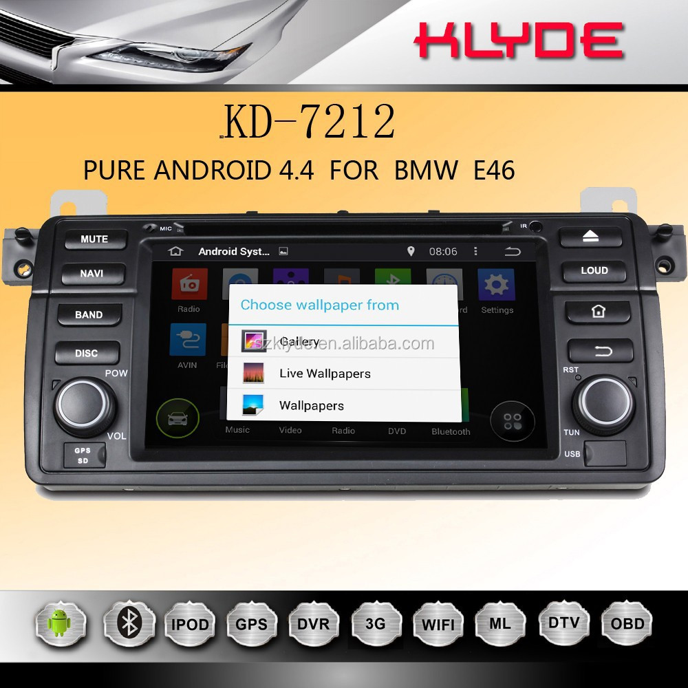 New Year's promotions android 4.4.2 car dvd with gps car dvd player for e46