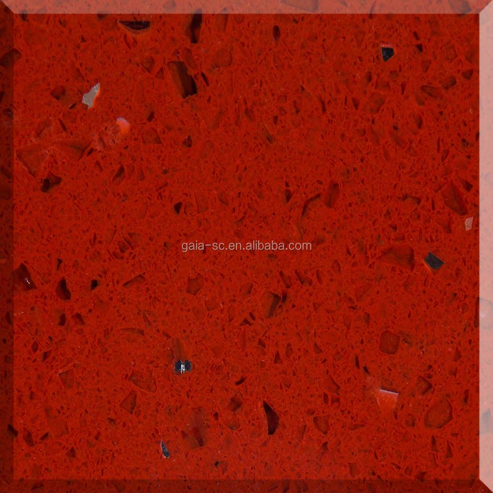 Ruby Red Sparkle Quartz Stone Made Of Glass - Buy Ruby Red Sparkle Quartz  Coarse Grain Glass Stone,Cheap Polished Surface Red Glass Stone Quartz