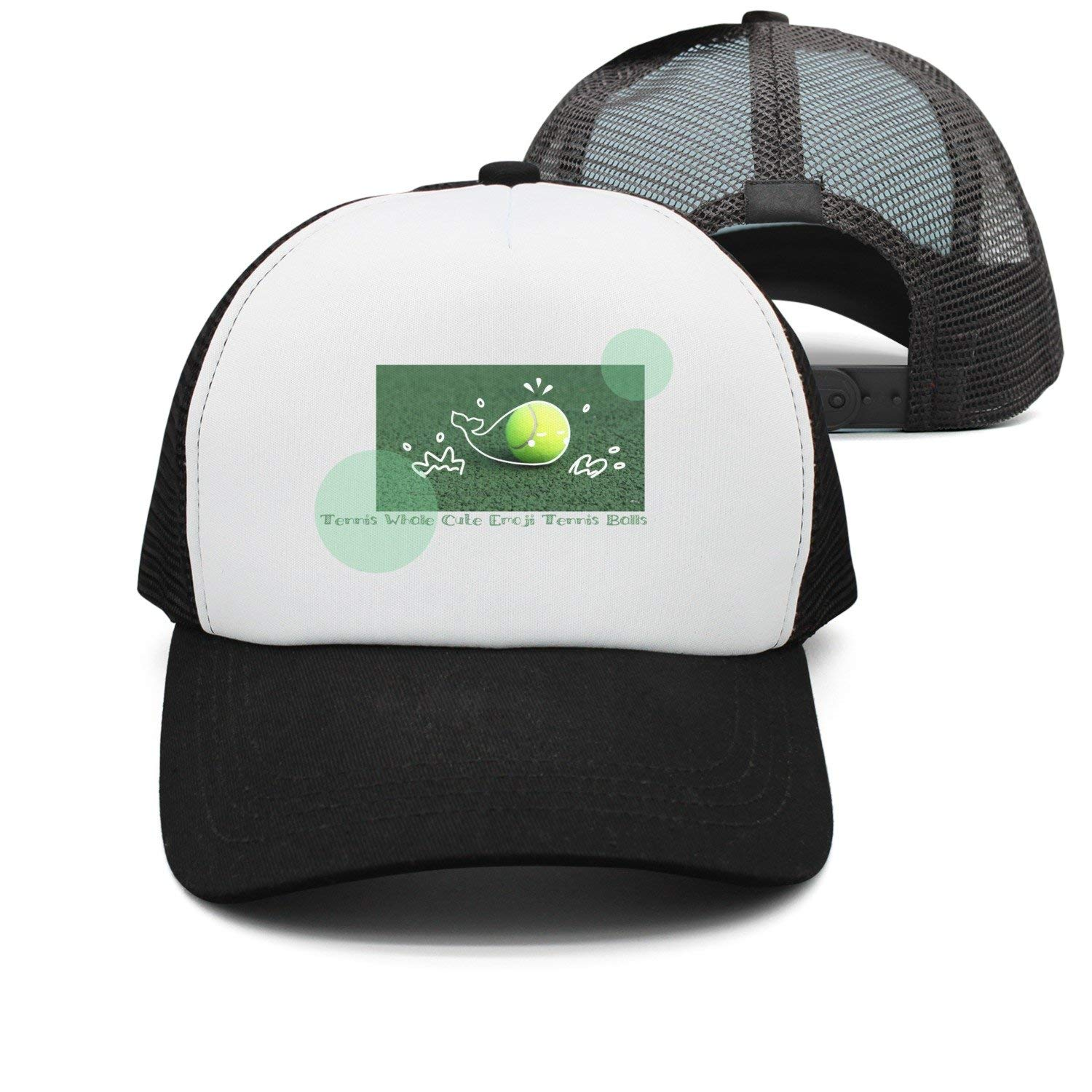 473cb3a2e7089 Get Quotations · YAYAZAN Caps Hats Mens Tennis Whale Cute Emoji Tennis  Balls Mesh Cool Graphic Adjustable