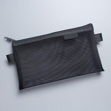 Black Small Mesh Brush Pouch