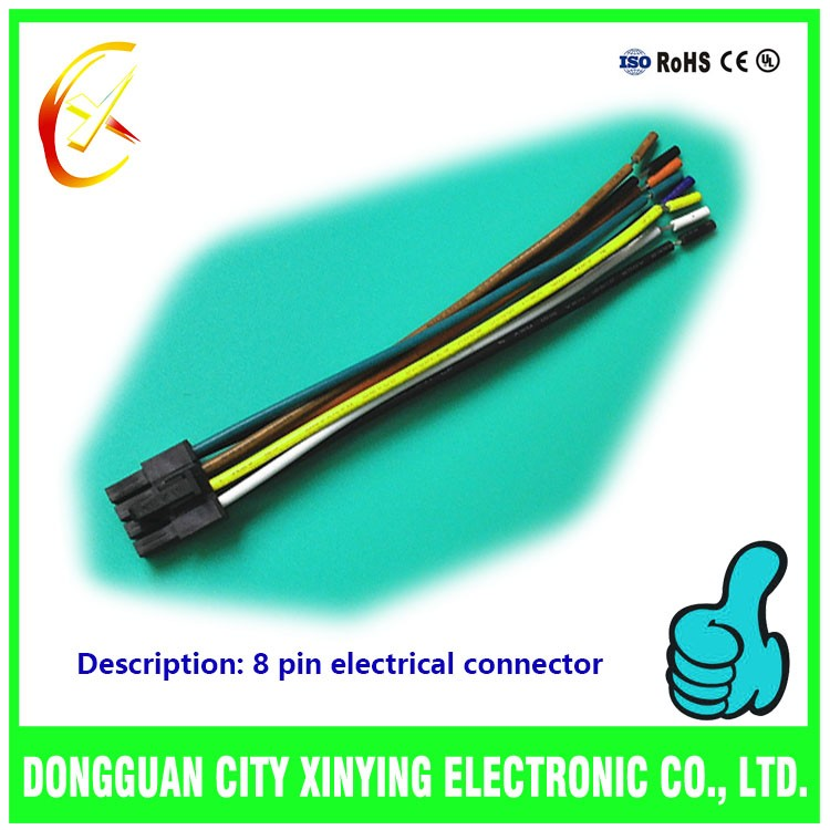 Dongguan Factory Custom 6 Pin 8 Pin 12 Pin Connector Wiring Harness ...