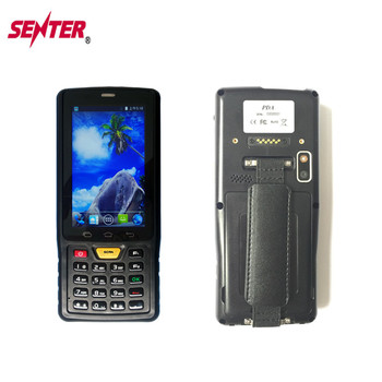 Rugged Android Pda Police Barcode Scanner 4g Wifi Gps Rfid Printer 4