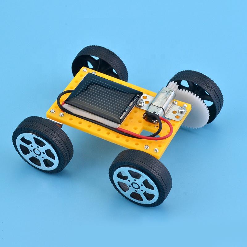 Educational stem kit diy mini powered kids solar car toy