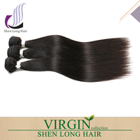 SHENLONG Brazilian Virgin Remy Human Hair Extension Weave 3 Bundles 300g - Natural Black,22