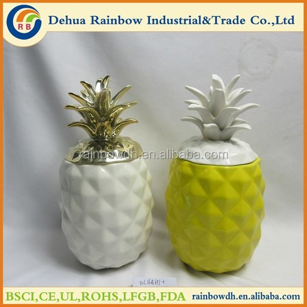 Ceramic Fruit Jar Home Decoration Ceramic Pineapple Buy