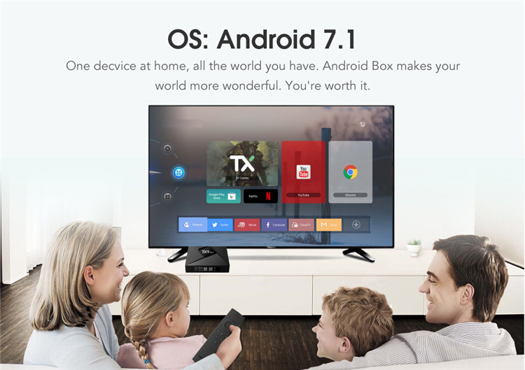 OEM/ODM TX9 PRO Android 7.1 TV Box Smart OTT Octa Core Amlogic S912 3G RAM 32G ROM Customize TV Box