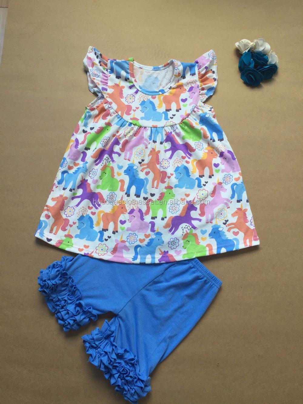 children boutique sets fashion clothing 2016 unicorn outfit wholesale  clothing manufacturers 175b2953ba