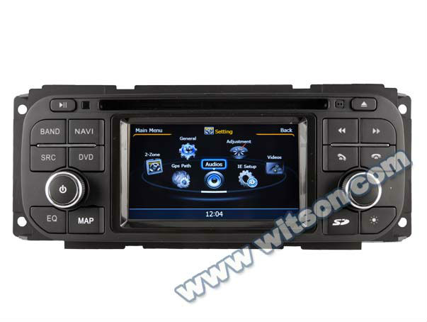 WITSON two din car radio for CHRYSLER Jeep Liberty with Built-in TV tuner
