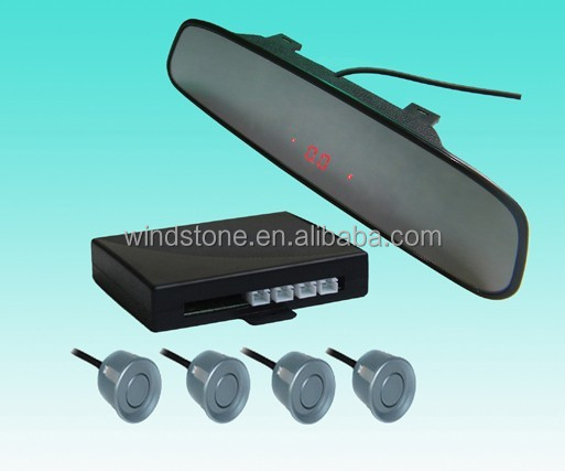 High quality Wireless Car radar detectors with Rearview ultra-slim Mirror
