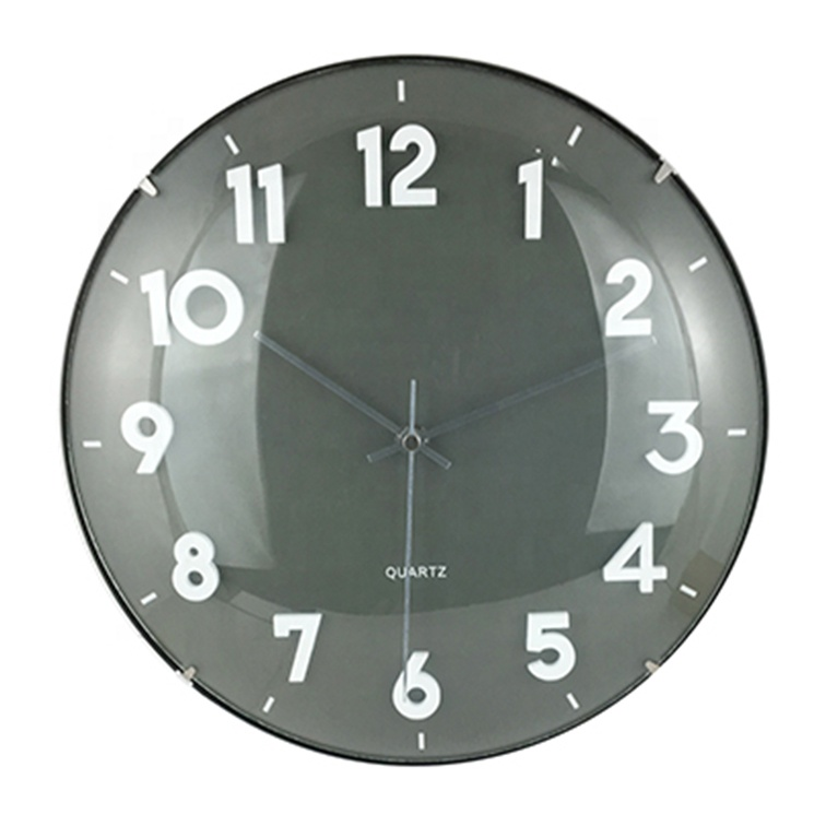 Luminous Clock 12 inch Frameless Clock Vaulted Glass Plastic Wall Clocks