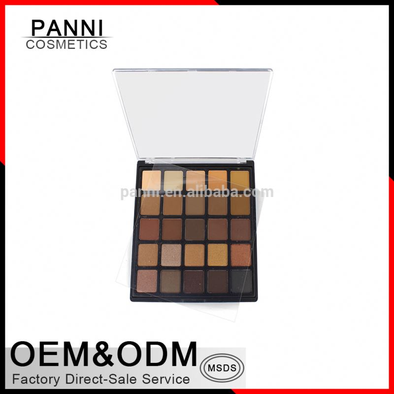 2017 hot sale cosmetics palette 25 color private label matte eyeshadow palette