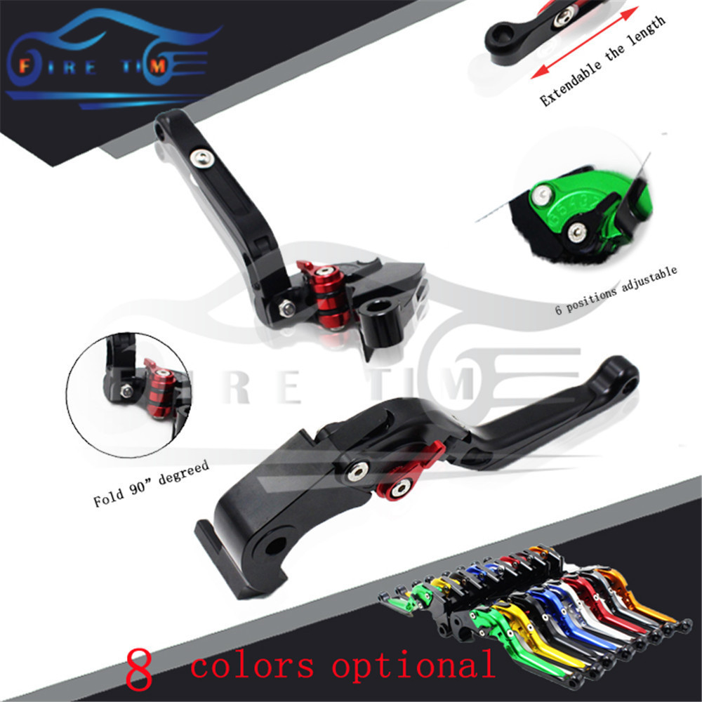 hot sale motorcycle aluminum brake clutch lever black cnc foldable extendable brake clutch levers FOR KAWASAKI ZX-6 1990-1999