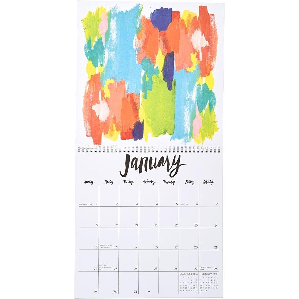 Artist Calendar Wall Calendar