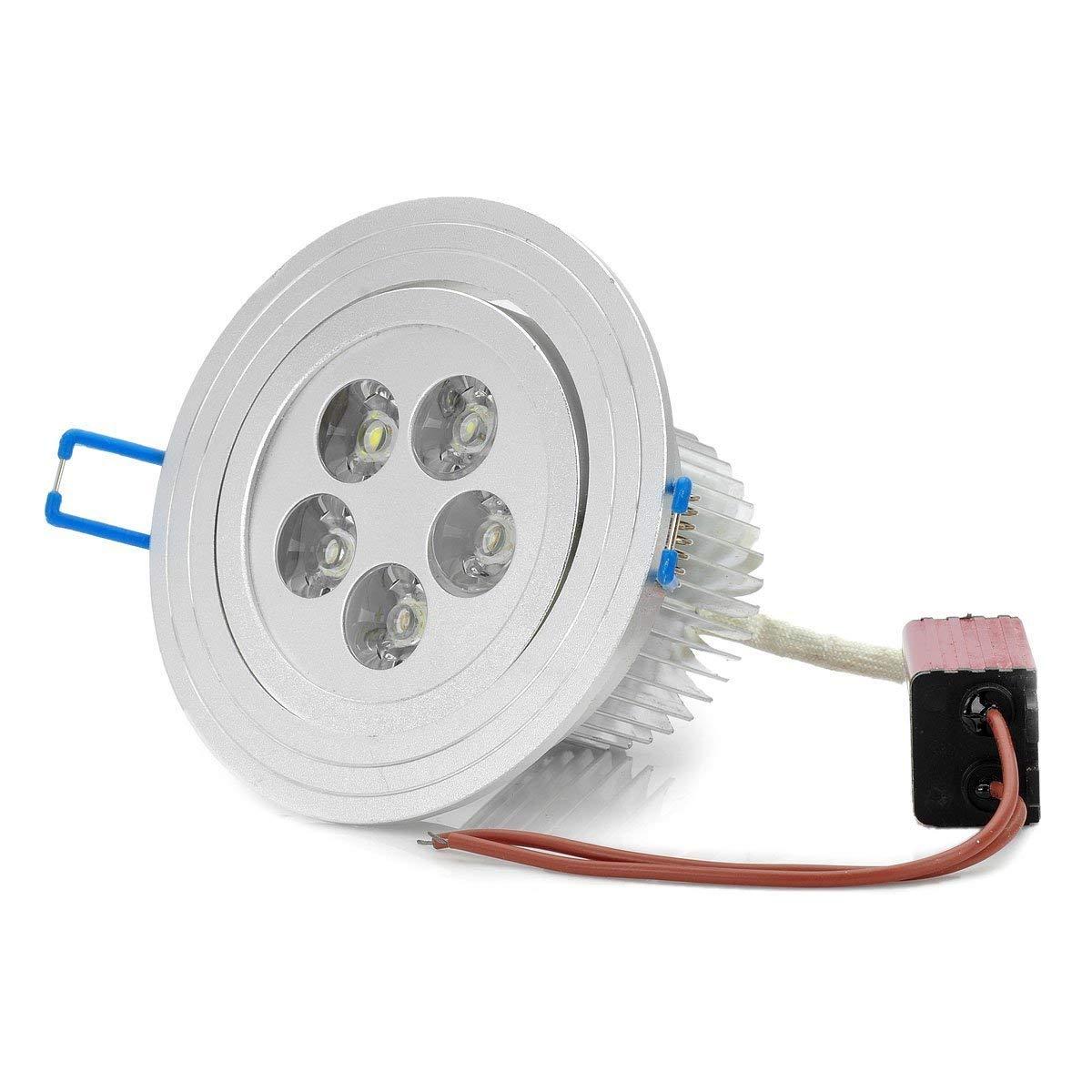 Cheap White Led Driver Circuit Diagram Find 100 Watt Spotlight Wiring Get Quotations Myeasyshopping 5w 60006500k 400420 Lumen 5 Light Ceiling