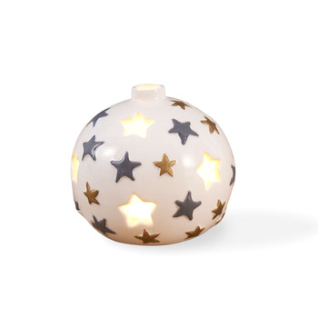 Fantasy Christmas Decoration 2019 All Star Ceramic Christmas Round Ball Ornament Candle Jar