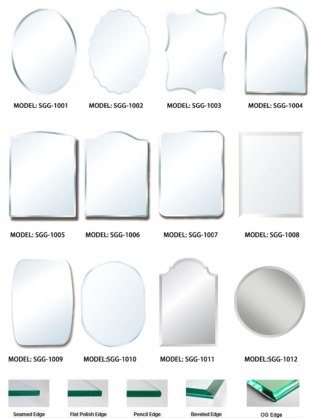 Glass factory custom high quality Different shapes mirror