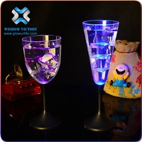 halloween Flashing LED Clear Glass led champagne glass