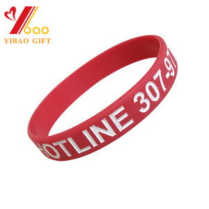 OEM Customs Silicone Embossed/Debossed/Printed Logo Wristband For Promotional