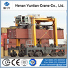 container yard lifting port gantry crane with rubber tires