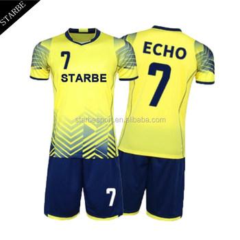 86e71751d9391 Personalizada su propio diseño del equipo de fútbol uniformes de fútbol