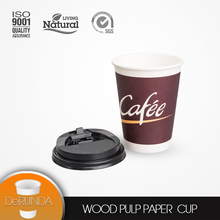Hot sale disposable custom printed double wall coffee paper cup with lid